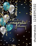 congratulations vector... | Shutterstock .eps vector #1218591532