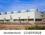 Array Of Cooling Towers At A...