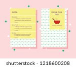 food menu design  food bowl... | Shutterstock .eps vector #1218600208