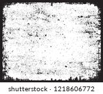 grunge overlay texture.vector... | Shutterstock .eps vector #1218606772