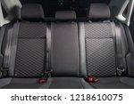 car backseats. new clean shiny... | Shutterstock . vector #1218610075