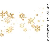 crystal snowflake and circle... | Shutterstock .eps vector #1218631345