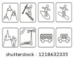 set icons vacation | Shutterstock . vector #1218632335