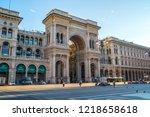 milan  italy   14.08.2018 ... | Shutterstock . vector #1218658618