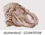 vintage portrait of... | Shutterstock .eps vector #1218659338