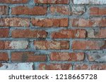 brick texture  background | Shutterstock . vector #1218665728