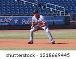 Small photo of Jake Noll 2nd basemen for the Salt River Rafters at Peoria Sports Complex in Peoria, Arizona/USA October 29,2018.