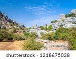 el torcal rock formations ... | Shutterstock . vector #1218675028