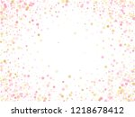 rose gold confetti circle... | Shutterstock .eps vector #1218678412