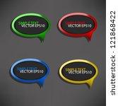 speech vector background on... | Shutterstock .eps vector #121868422