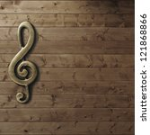 Wooden Wall With G Clef