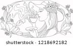 illustration  coloring page ... | Shutterstock .eps vector #1218692182
