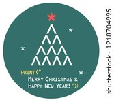 vector new year sign tree icon... | Shutterstock .eps vector #1218704995