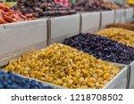 raisin in the food market | Shutterstock . vector #1218708502