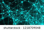 abstract connection dots.... | Shutterstock . vector #1218709048