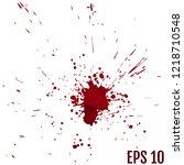 blood splatter painted vector... | Shutterstock .eps vector #1218710548