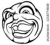 vector illustration face sneaky ... | Shutterstock .eps vector #1218774838