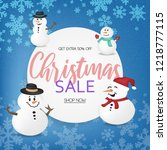 christmas banner sales  special ... | Shutterstock .eps vector #1218777115