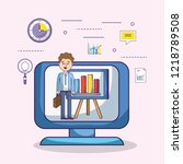 business office employee...   Shutterstock .eps vector #1218789508