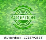adoption realistic green mosaic ... | Shutterstock .eps vector #1218792595