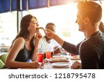 young multiracial diverse... | Shutterstock . vector #1218795478