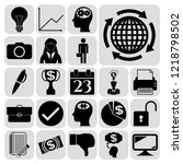 set of 22 business symbols of... | Shutterstock .eps vector #1218798502