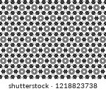 ornament with elements of black ... | Shutterstock . vector #1218823738