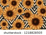 printable seamless vintage... | Shutterstock . vector #1218828505
