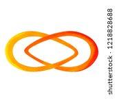 orange color of chakra symbol... | Shutterstock . vector #1218828688