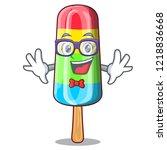 geek character beverage... | Shutterstock .eps vector #1218836668