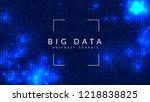 quantum computing background.... | Shutterstock .eps vector #1218838825