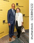 Small photo of New York, NY - November 1, 2018: Lester Holt and Carol Hagen Holt attend the 2018 IRC Rescue Dinner at New York Hilton Midtown