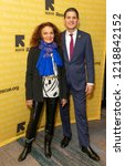 Small photo of New York, NY - November 1, 2018: Diane Von Furstenberg and David Miliband attend the 2018 IRC Rescue Dinner at New York Hilton Midtown