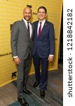 Small photo of New York, NY - November 1, 2018: Keegan-Michael Key and David Miliband attend the 2018 IRC Rescue Dinner at New York Hilton Midtown