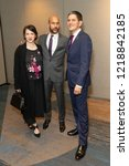 Small photo of New York, NY - November 1, 2018: Elisa Pugliese, Keegan-Michael Key and David Miliband attend the 2018 IRC Rescue Dinner at New York Hilton Midtown