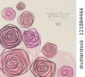 Stock vector design floral background 121884466