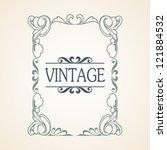 vector vintage frame | Shutterstock .eps vector #121884532
