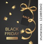 black friday sale design... | Shutterstock .eps vector #1218853642