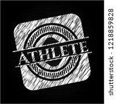 athlete on chalkboard   Shutterstock .eps vector #1218859828