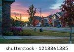 living in residential housing... | Shutterstock . vector #1218861385