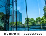 building reflected in windows... | Shutterstock . vector #1218869188