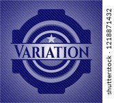 variation badge with denim... | Shutterstock .eps vector #1218871432