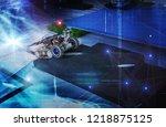 remote control car  | Shutterstock . vector #1218875125