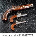 antique english percusion...   Shutterstock . vector #1218877372