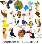 cartoon bird collection set | Shutterstock .eps vector #1218881815