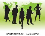 business silhouettes set 2 ... | Shutterstock .eps vector #1218890