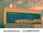 clearwater beach  florida.... | Shutterstock . vector #1218893335