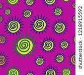 sun  seamless pattern . hand... | Shutterstock .eps vector #1218915592
