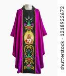 requiem casula  purple... | Shutterstock . vector #1218922672