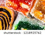 sweets soft candy nougat... | Shutterstock . vector #1218925762